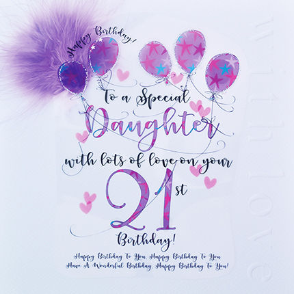 Handmade Daughter 21st Birthday Card