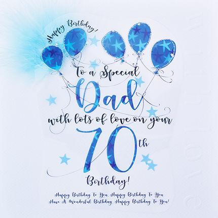 Handmade Dad 70th Birthday Card