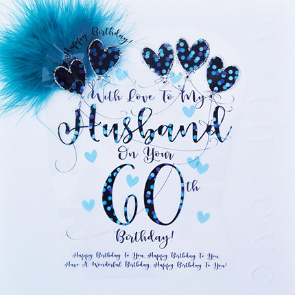Handmade Husband 60th Birthday Card