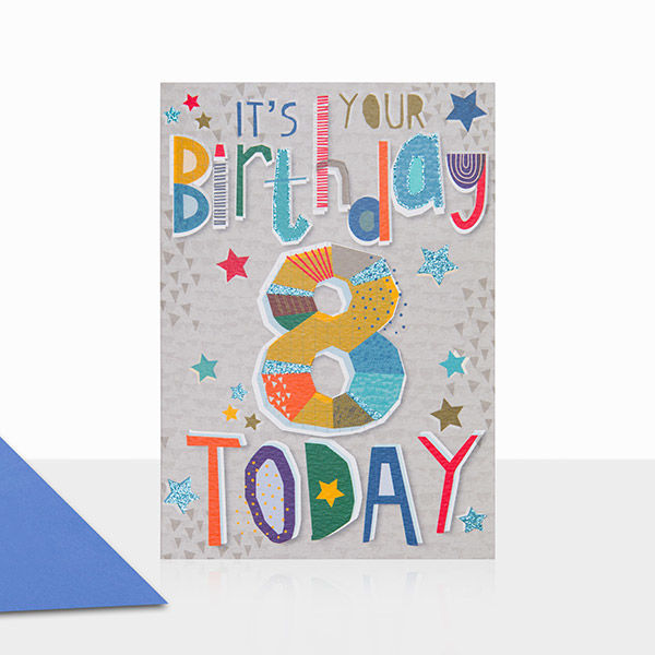 Its Your Birthday 8 Today Card
