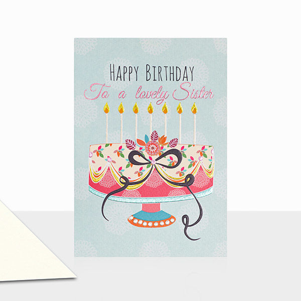 To A Lovely Sister Happy Birthday Card