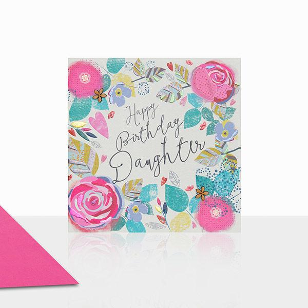 Beautiful Daughter Happy Birthday Card