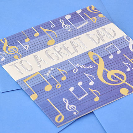 Musical Notes Great Dad Card