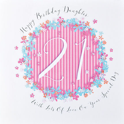 Floral Daughter 21st Birthday Card
