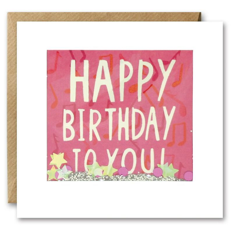Shakies Musical Notes Happy Birthday To You Card
