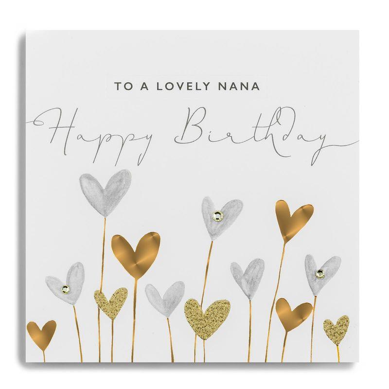 Hand Finished Lovely Nana Birthday Card