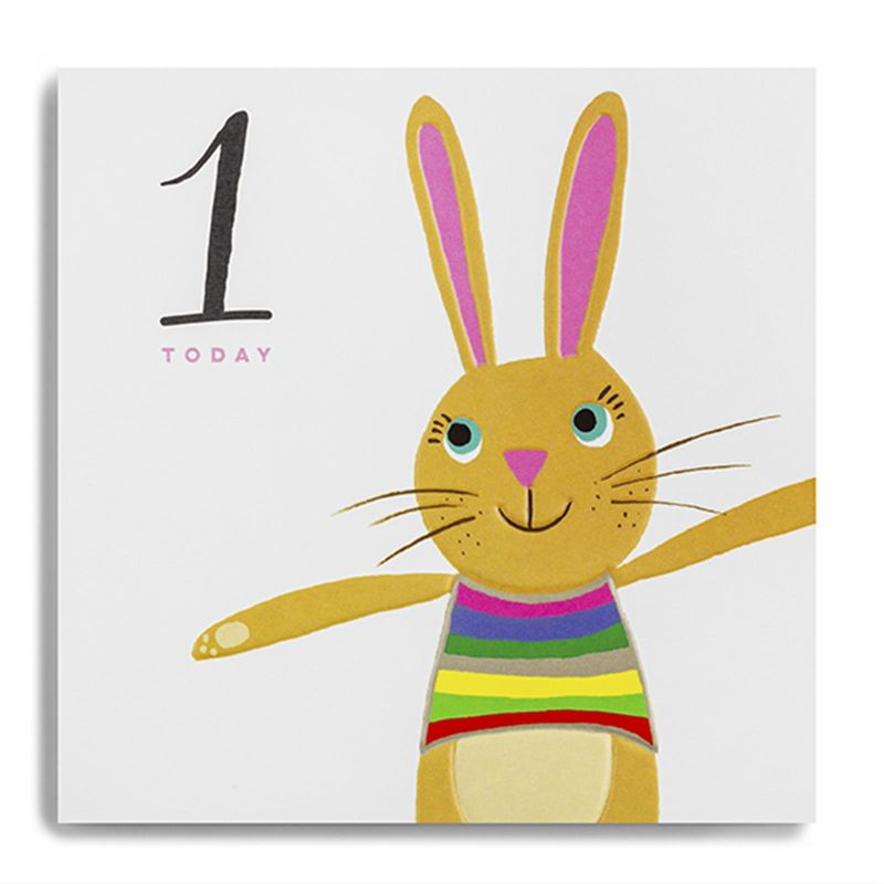 Rabbit 1 Today Birthday Card