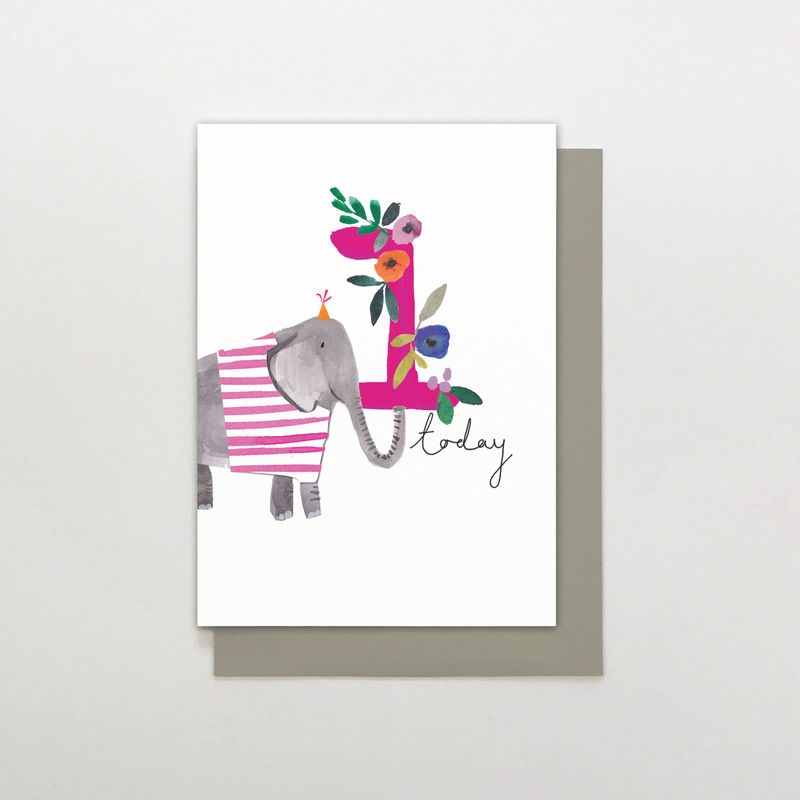 Elephant 1 Today Birthday Card