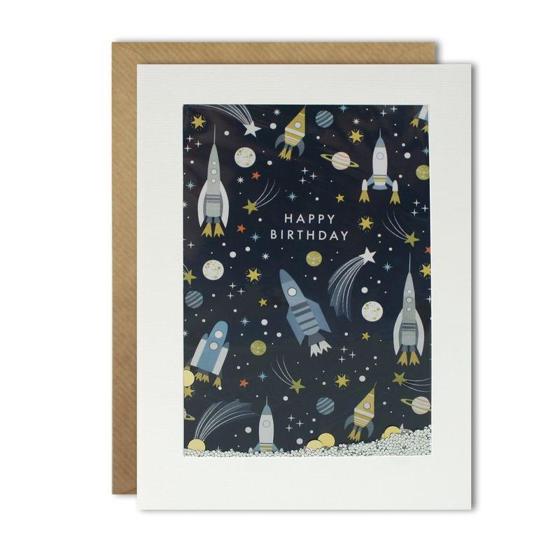 Shakies Space Rockets Astronomy Birthday Card