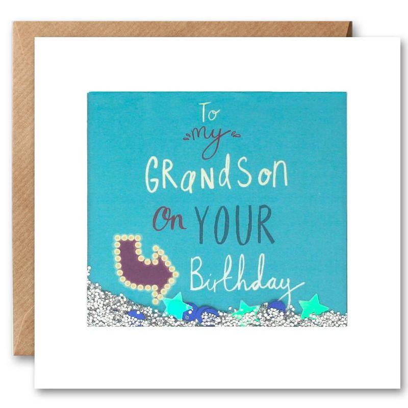 Shakies To My Grandson Happy Birthday Card