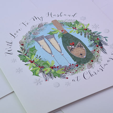 Husband Christmas Cards.With Love To My Husband At Christmas Card Large Luxury Card