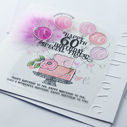 Handmade Friend 60th Birthday Cake Birthday Card