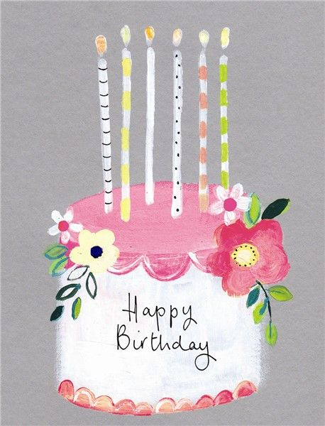 Birthday Cake Candles Happy Card