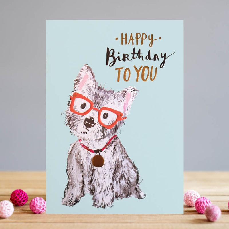 Westie Dog Happy Birthday Card