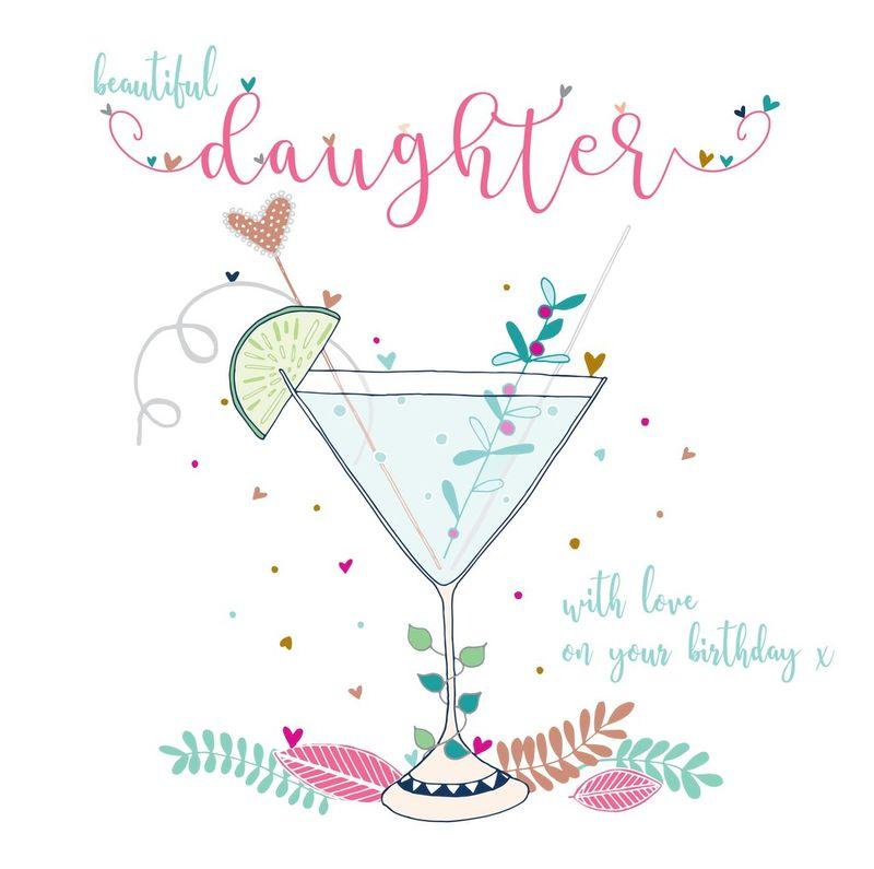 beautiful daughter birthday card  large luxury birthday