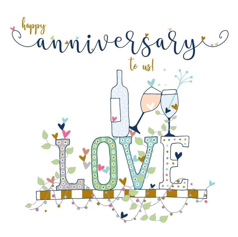 Happy Anniversary To Us Card - Large, Luxury Wedding ...
