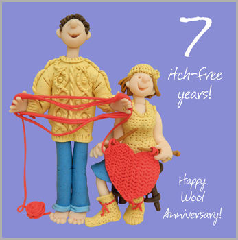 7th Wedding Anniversary.7th Wedding Anniversary Card Karenza Paperie