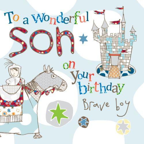 Son Knight Birthday Card