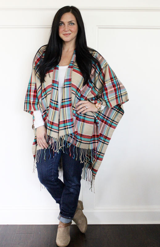 Plaid Blanket Poncho (sold out)