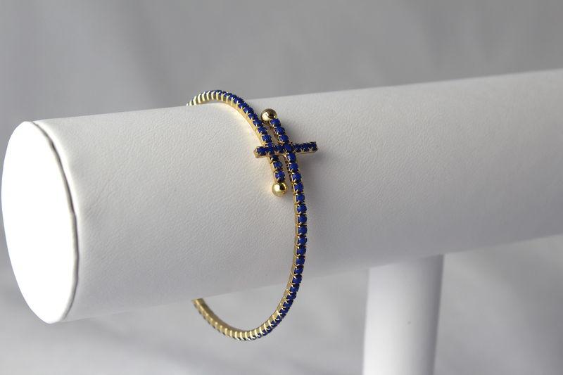 Sideways Cross Wrap Bracelet