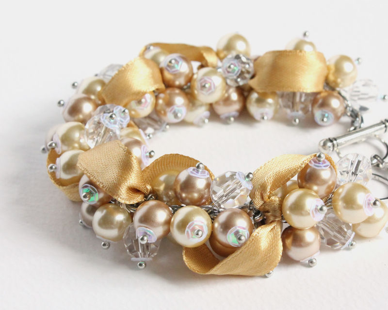 Champagne Gold Bridesmaid Cer Bracelet And Earrings Set Cissy Pixie