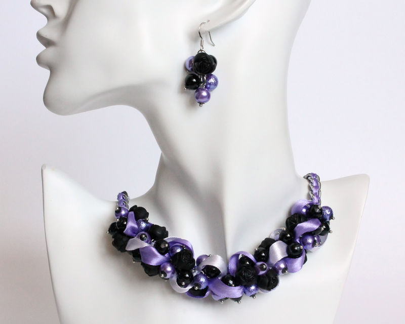 Cluster Necklace Bracelet And Earring Set Collection