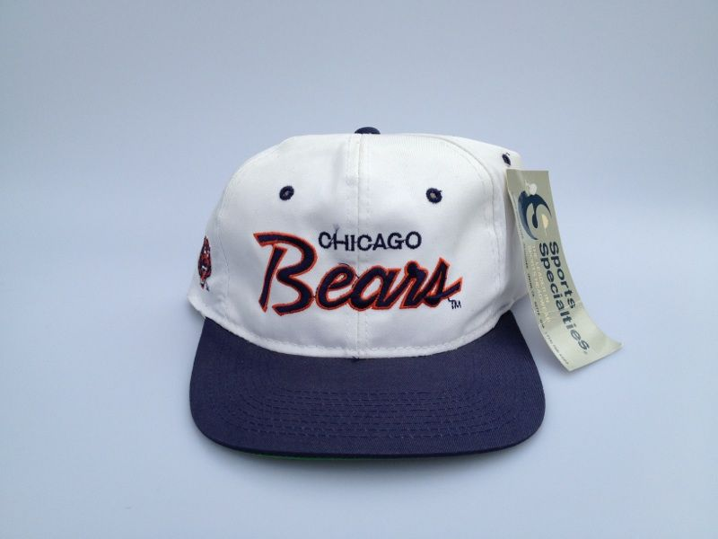 381b1ac1 Vintage Chicago Bears Sports Specialties Script Snapback Hat RARE