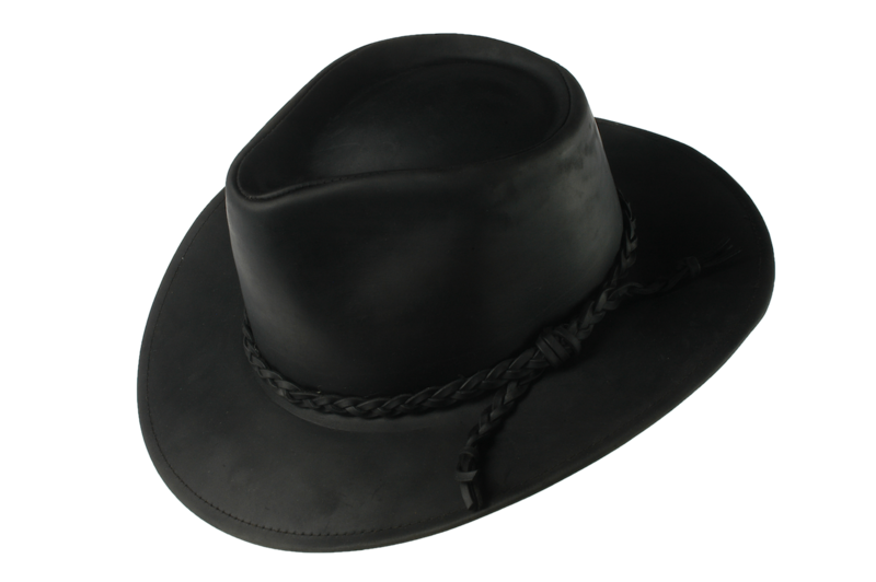 Black Fer Waxed Leather Hat - Home of the Original Estribos Polo Belt ca972a124c6