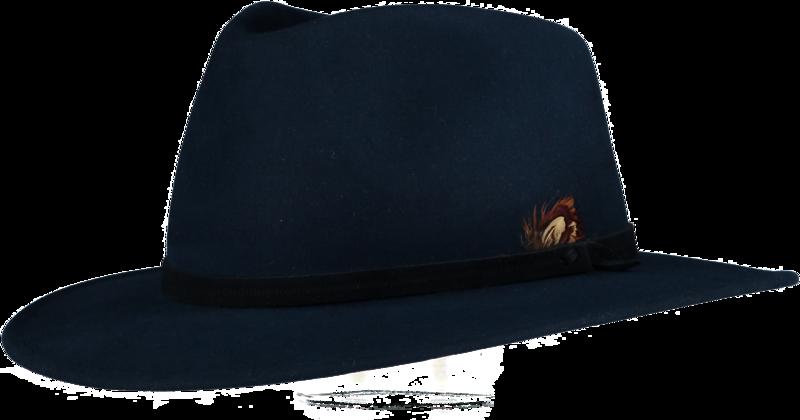 Blue Fur Felt Fedora - Home of the Original Estribos Polo Belt 618b38b7641