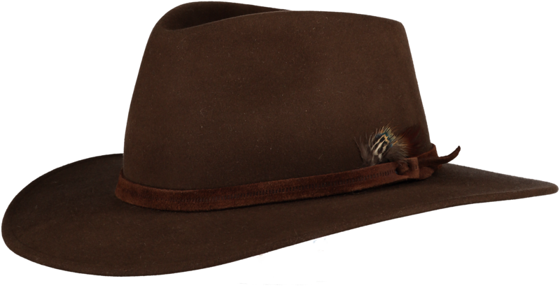 Brown Fur Felt Fedora Home Of The Original Estribos Polo