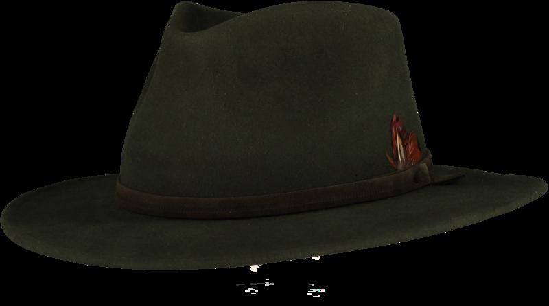 Green Fur Felt Fedora - Home of the Original Estribos Polo Belt 9662308f7f7e