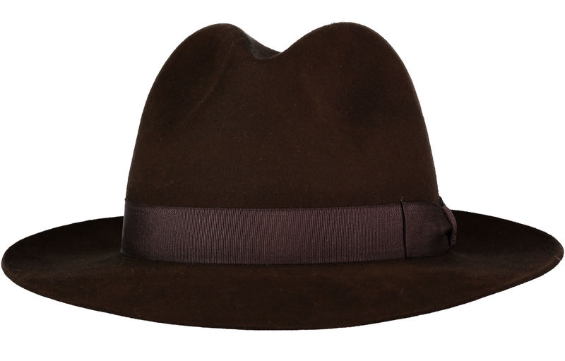 Brown Andres Fur Felt Trilby - Home of the Original Estribos Polo Belt ee48f1048a7