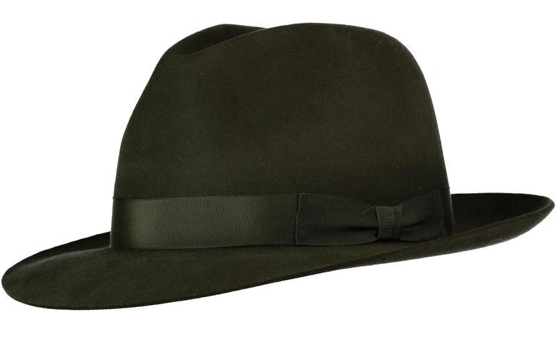4e79ee5831985 Green Andres Fur Felt Trilby - Home of the Original Estribos Polo Belt