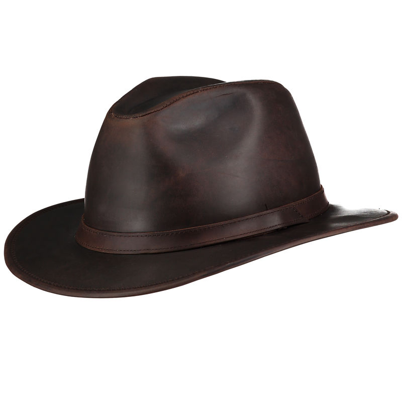 Indiana Waxed Leather Hat - Home of the Original Estribos Polo Belt 82d4710b23a
