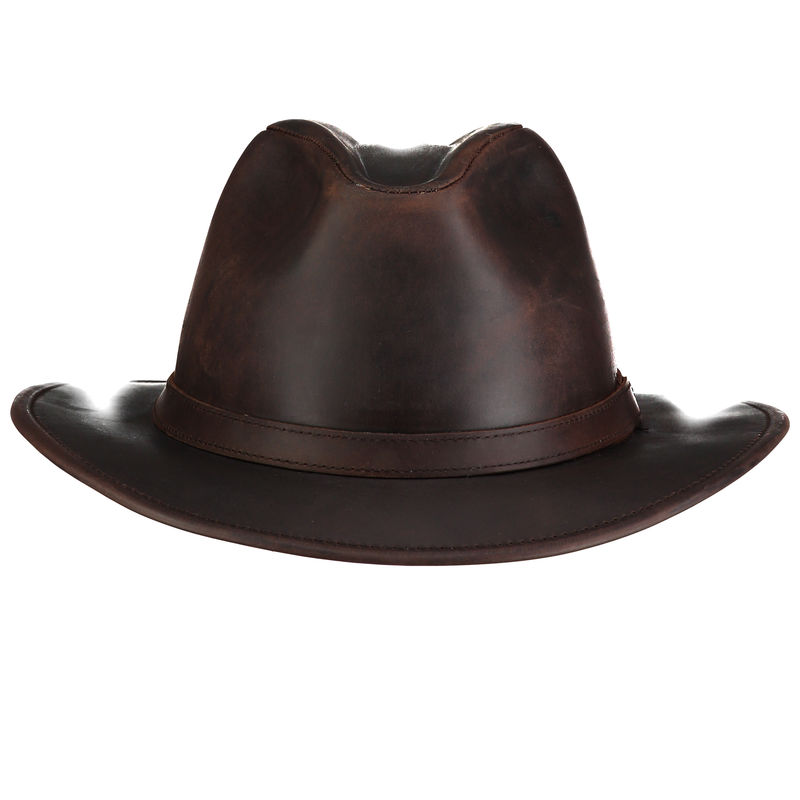 Indiana Waxed Leather Hat Home Of The Original Estribos