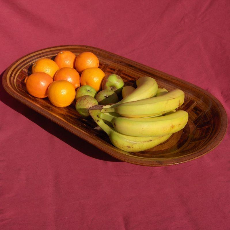 Oval Checker Fruit Bowl Weirdwood