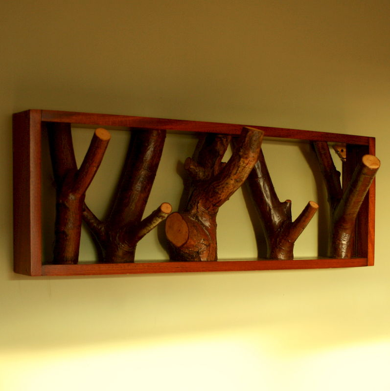 Rustic Coat Rack Weirdwood