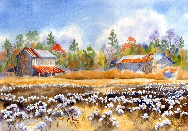 Barns Back Home Giclee The Golden Gallery