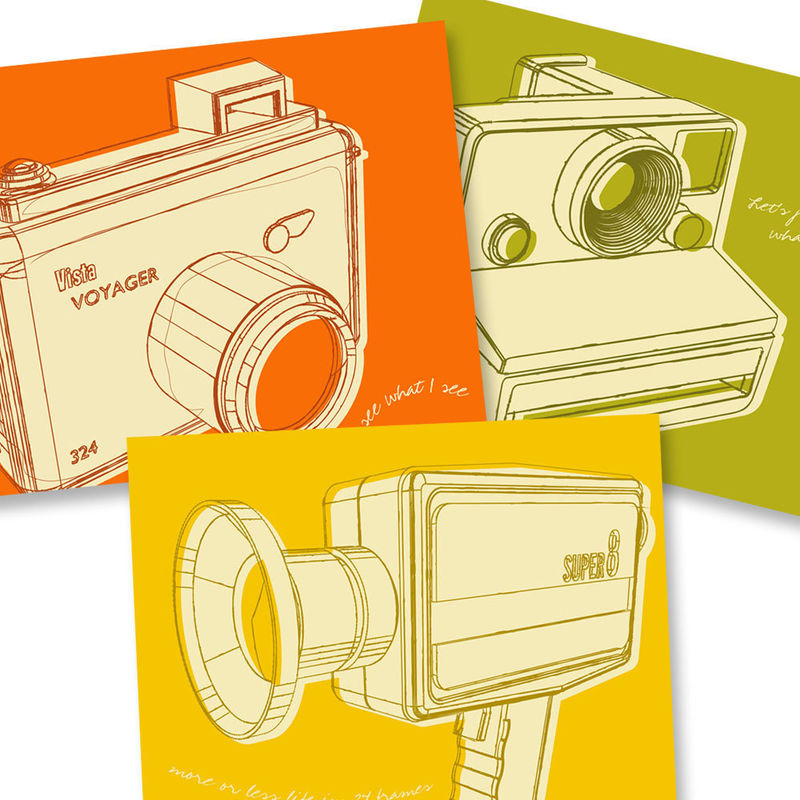 Camera Art - Lunastrella Cameras Set 8x10 Set of Three