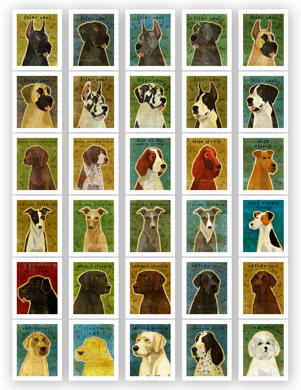 Dog Artwork Pick Your Pooch Print 11 In X 14 In Whimsical Dog Art Print Dog Wall Decor Dog Wall Art Dog Print Mothers Day Gift The Golden Gallery