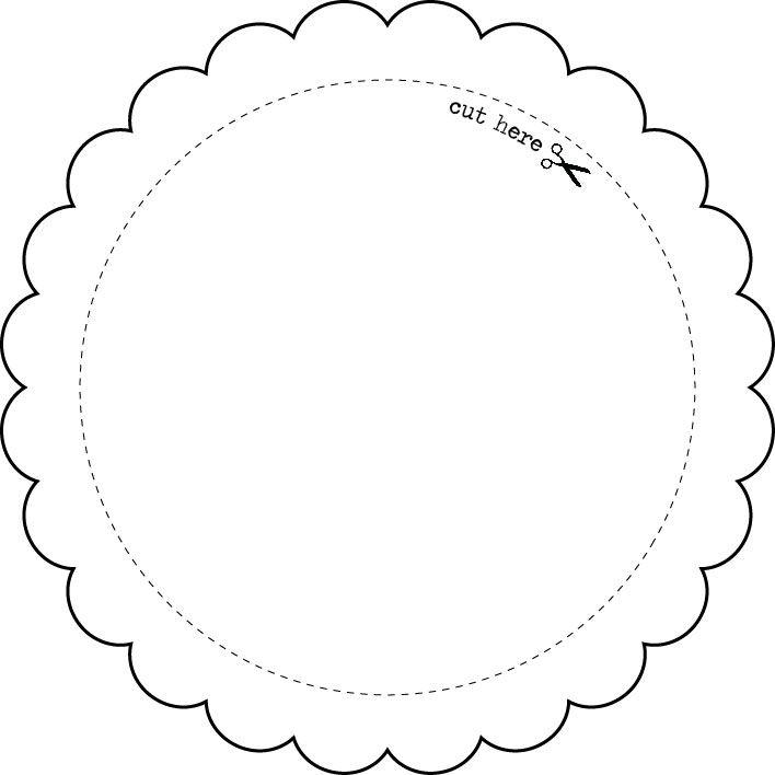 templates round frame express yourself diy