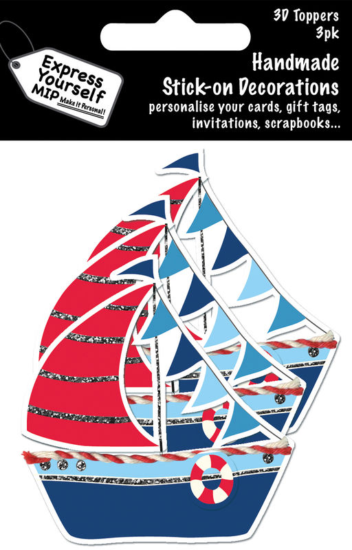 Mini Multi Pack Toppers - Sailing Boat