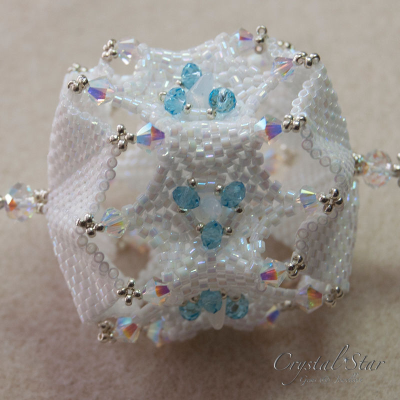 Snowflake Christmas Ornament Tutorial - Crystal Star Gems ...