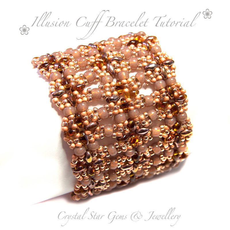 c1578b02fc5 Illusion Cuff Bracelet Tutorial - Crystal Star Gems & Jewellery