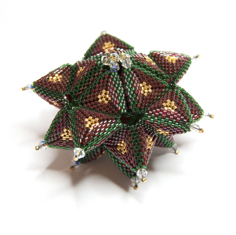 Beaded Christmas Ornaments Patterns.Christmas Ornament Beading Pattern Pdf Tutorial Secret Star
