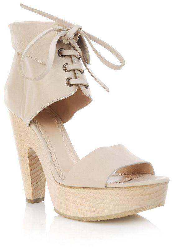 ec09c34469f Chloé - Wooden Clog Sandals