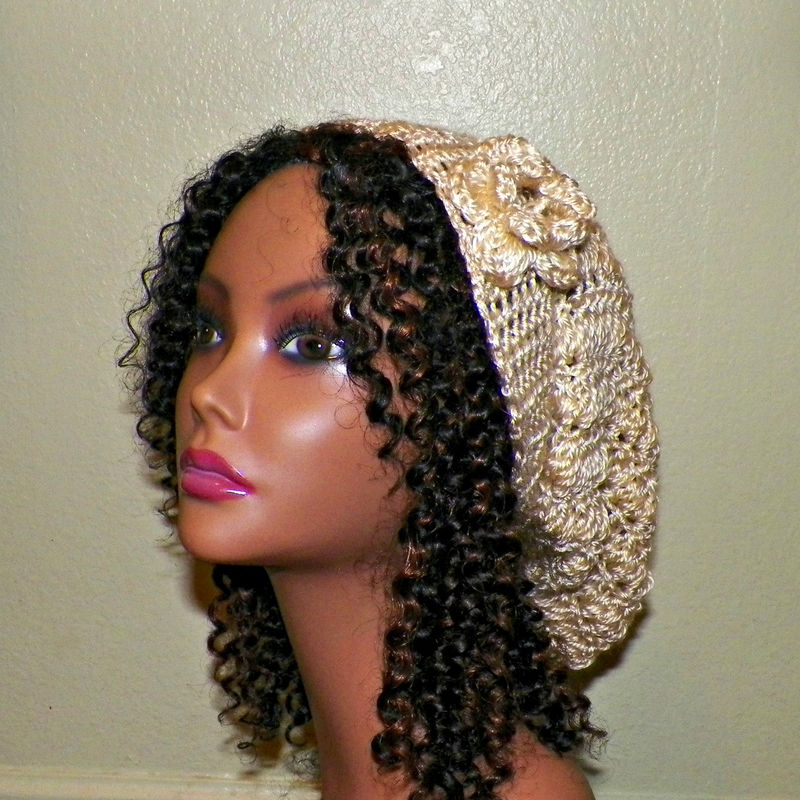 239b4eb4acf Sale- Womens Slouchy Hat Cream Off White Crochet Hippie Color Tam Beret  Boho Chunky Winter Summer Beanie Rasta - Wild Irish Rose Crochet