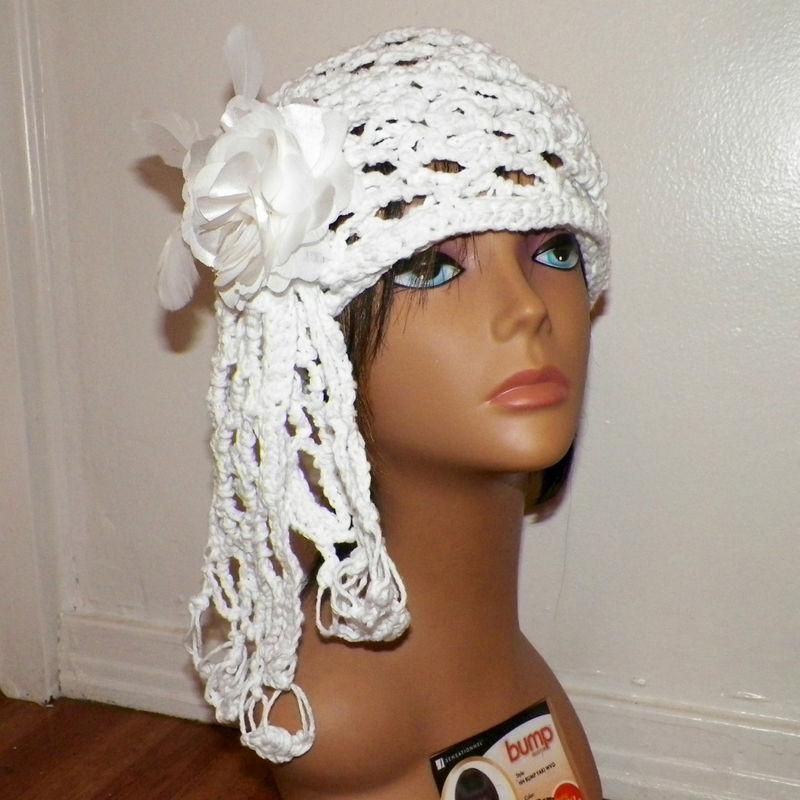 Sale- Womens Cloche Hat White Wedding Bridal Cotton Irish