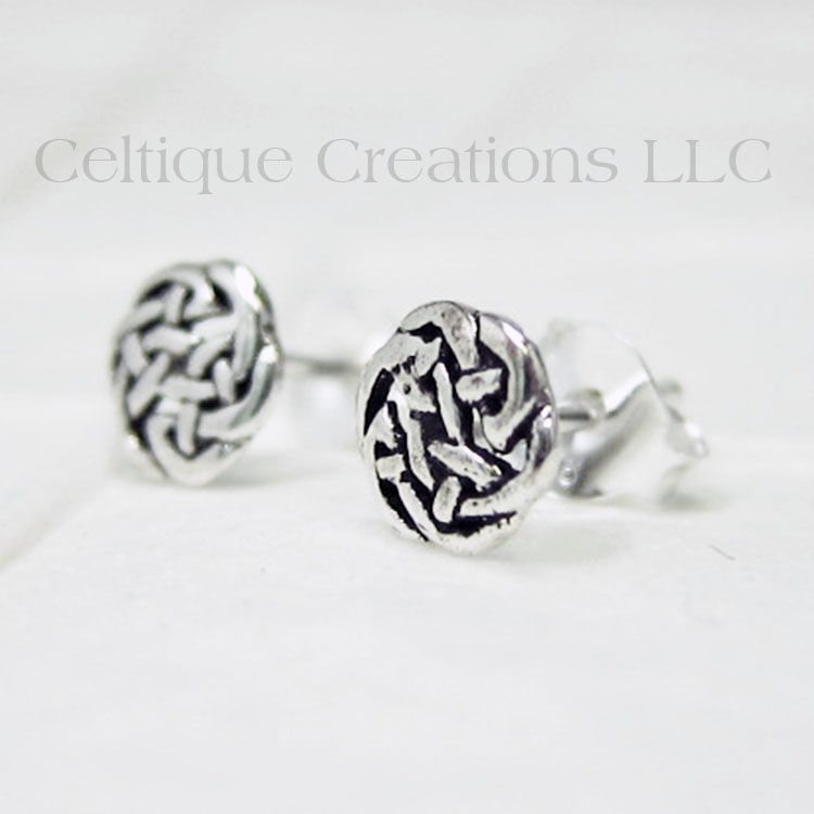 Celtic Circle Knot Sterling Silver Stud Earrings Product Images Of