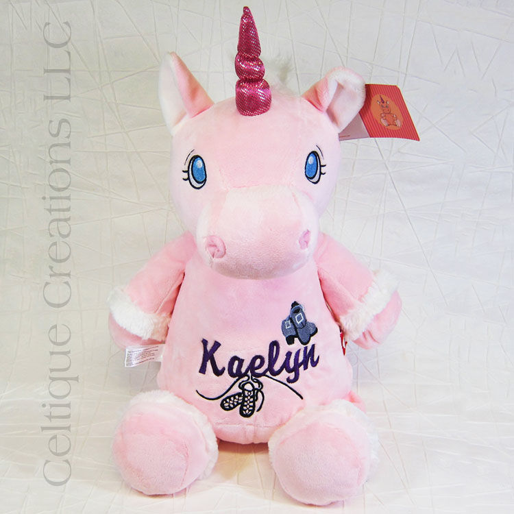 Personalized Pink Unicorn Cubbies Stuffed Animal Celtique Creations